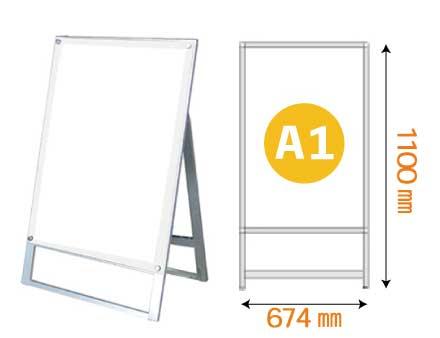 ポスター用スタンド看板 マグネジ A1 片面 ホワイト
